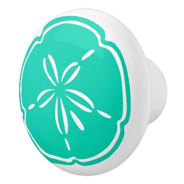 Beach Themed Colorful Beach Shell Sand Dollar Drawer Knobs