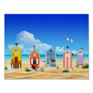 Colorful Beach Summer Fun Poster