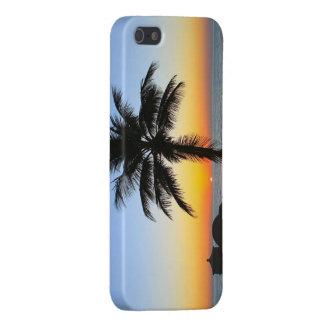 Colorful beach sunrise, sunset  iphone 5 case