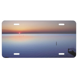 Colorful Beach Sunset License Plate