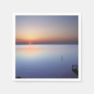 Colorful Beach Sunset Disposable Napkins