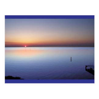 Colorful Beach Sunset Post Cards
