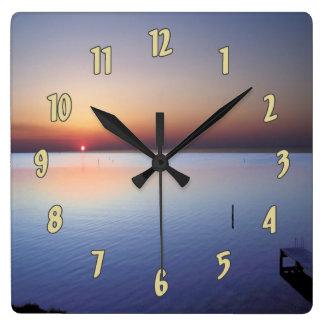 Colorful Beach Sunset Wall Clock
