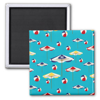 Colorful Beach Umbrella and Beach Ball Custom Magnet