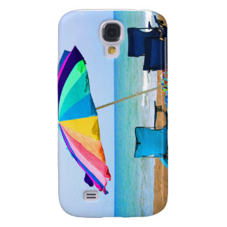 Colorful beach umbrella and chairs in Florida Samsung Galaxy S4 Case