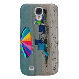 colorful beach umbrella chairs Florida scene Galaxy S4 Cover