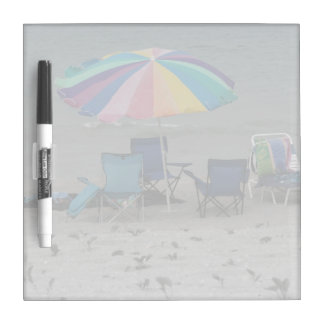 colorful beach umbrella dusty vintage style chair Dry-Erase board