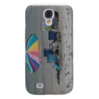 colorful beach umbrella dusty vintage style chair samsung galaxy s4 case