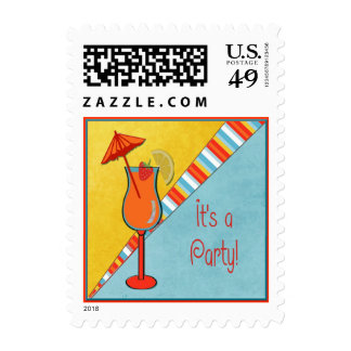 Colorful Beachtime Special Occasion Party Postage
