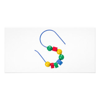 Colorful bead and wire toy card
