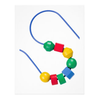 Colorful bead and wire toy personalized flyer