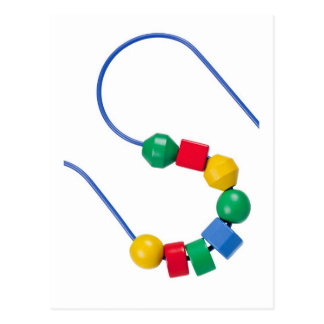 Colorful bead and wire toy postcard