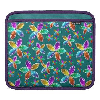 Colorful Bead Flowers iPad Sleeve
