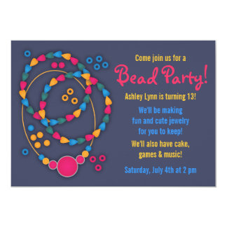 Colorful Bead Jewelry Party Invitations