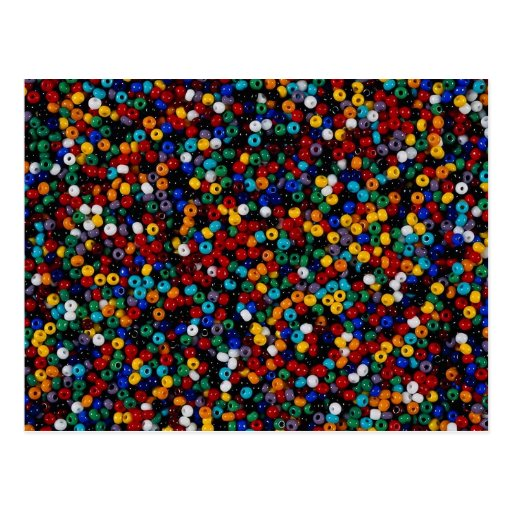 Colorful Beads for decorative works Postcard