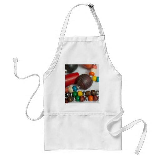 Colorful beads in chains apron
