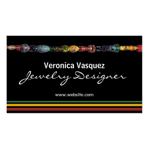 Colorful Beads Jewelry Business Card