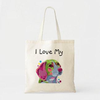 Colorful Beagle Tote Bag