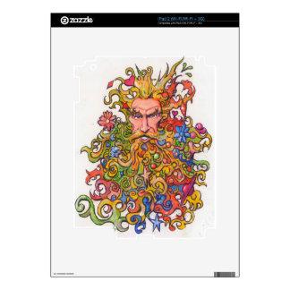 Colorful Beard Guy iPad 2 Skin