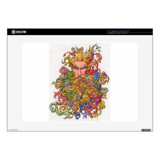 Colorful Beard Guy Laptop Skin