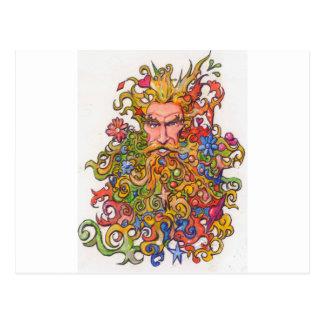 Colorful Beard Guy Postcard
