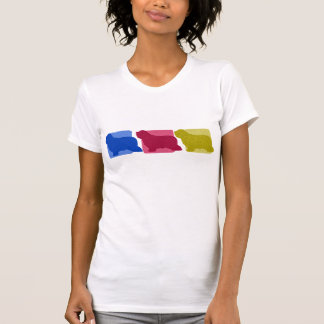 Colorful Bearded Collie Silhouettes Ladies TShirt