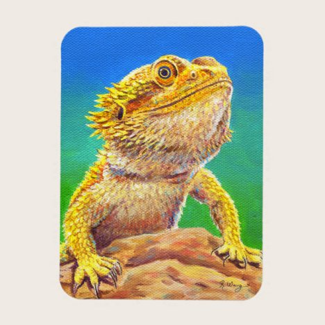 Colorful Bearded Dragon Lizard Flexible Magnet
