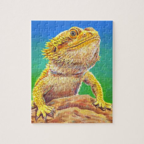 Colorful Bearded Dragon Lizard Jigsaw Puzzle