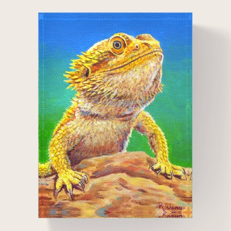 Colorful Bearded Dragon Lizard Paperweight