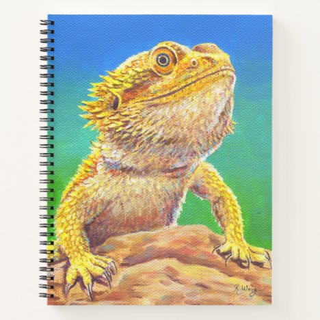 Colorful Bearded Dragon Lizard Spiral Notebook
