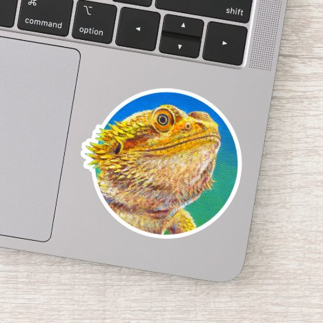 Colorful Bearded Dragon Lizard Vinyl Sticker