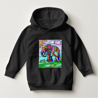 Colorful beautiful artistic elephant painting hoodie