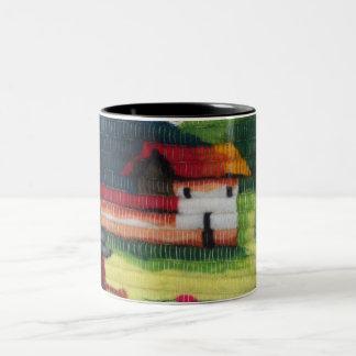 Colorful,beautiful houses Black 325ml Two Tone Mug