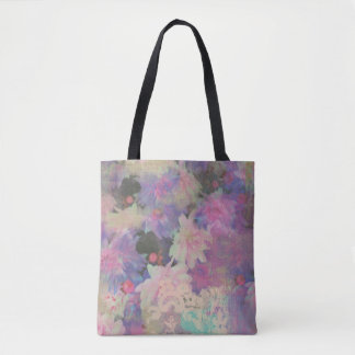 colorful beautiful lace flower tote bag