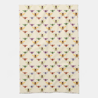 Colorful Bees Kitchen Towel
