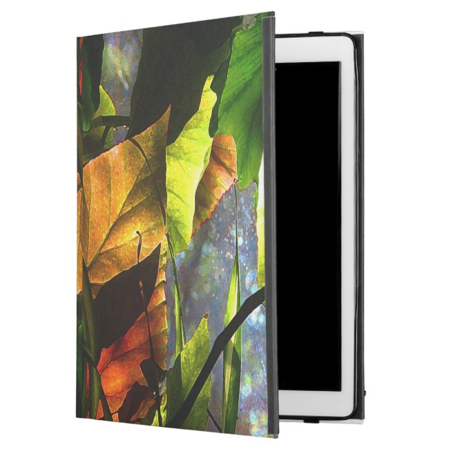 Colorful Begonia Leaves Abstract iPad Pro Case