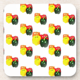 Colorful Bell Peppers Beverage Coaster