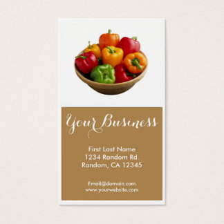 Colorful bell peppers customizable business cards