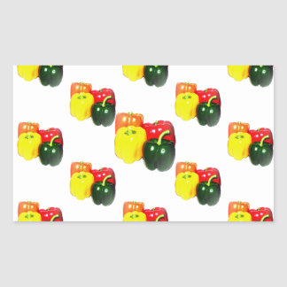 Colorful Bell Peppers Rectangular Sticker