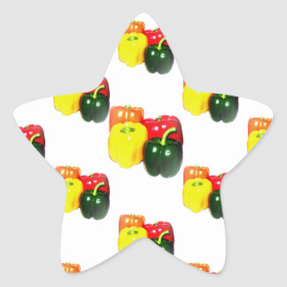 Colorful Bell Peppers Star Sticker