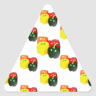 Colorful Bell Peppers Triangle Sticker