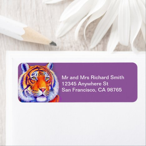 Colorful Bengal Tiger Address Labels