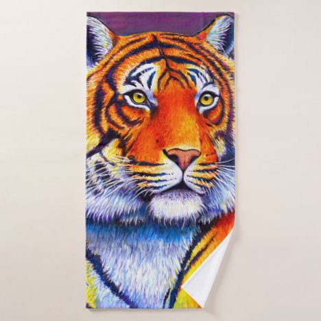 Colorful Bengal Tiger Bath Towel Set