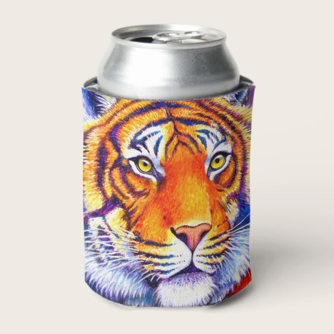 Colorful Bengal Tiger Can Cooler