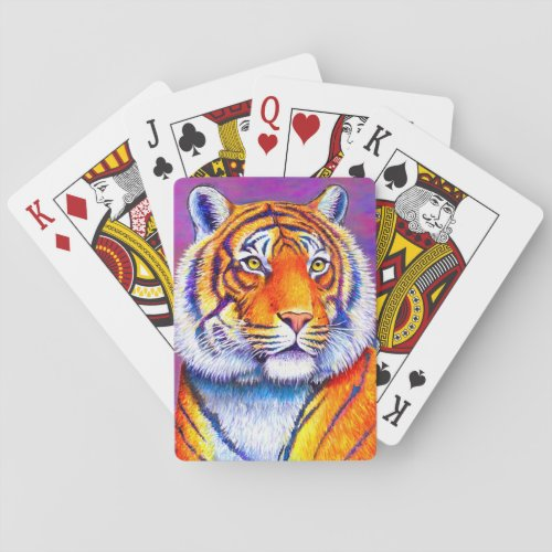 Colorful Bengal Tiger Playing Cards