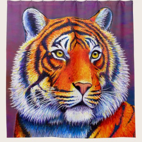 Colorful Bengal Tiger Shower Curtain
