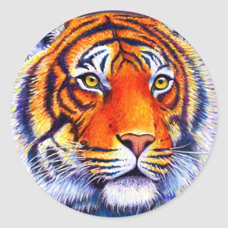 Colorful Bengal Tiger Stickers