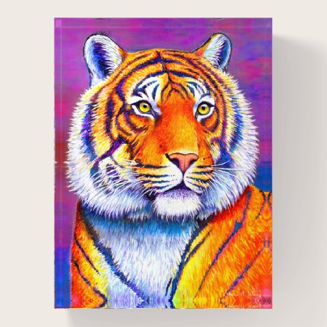 Colorful Bengal Tiger Wild Feline Paperweight