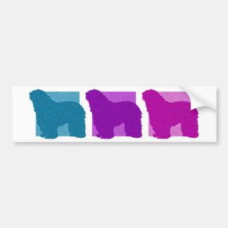 Colorful Bergamasco Silhouettes Bumper Sticker