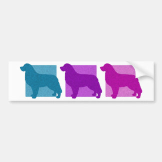Colorful Bernese Mountain Dog Silhouettes Bumper Sticker